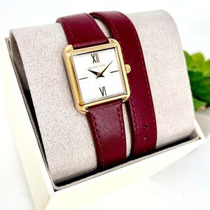 NWT MICHAEL KORS  Lake Red Leather Watch MK2761
